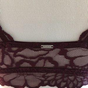 PINK Victoria's Secret Intimates & Sleepwear - PINK Lace bralette Small burgundy floral crop
